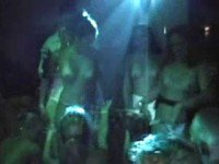 Wild party with naked ladies dancing and licking wet pussies